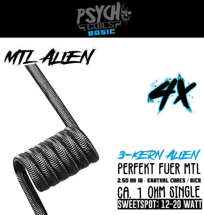 4x MTL Alien 1 Ohm